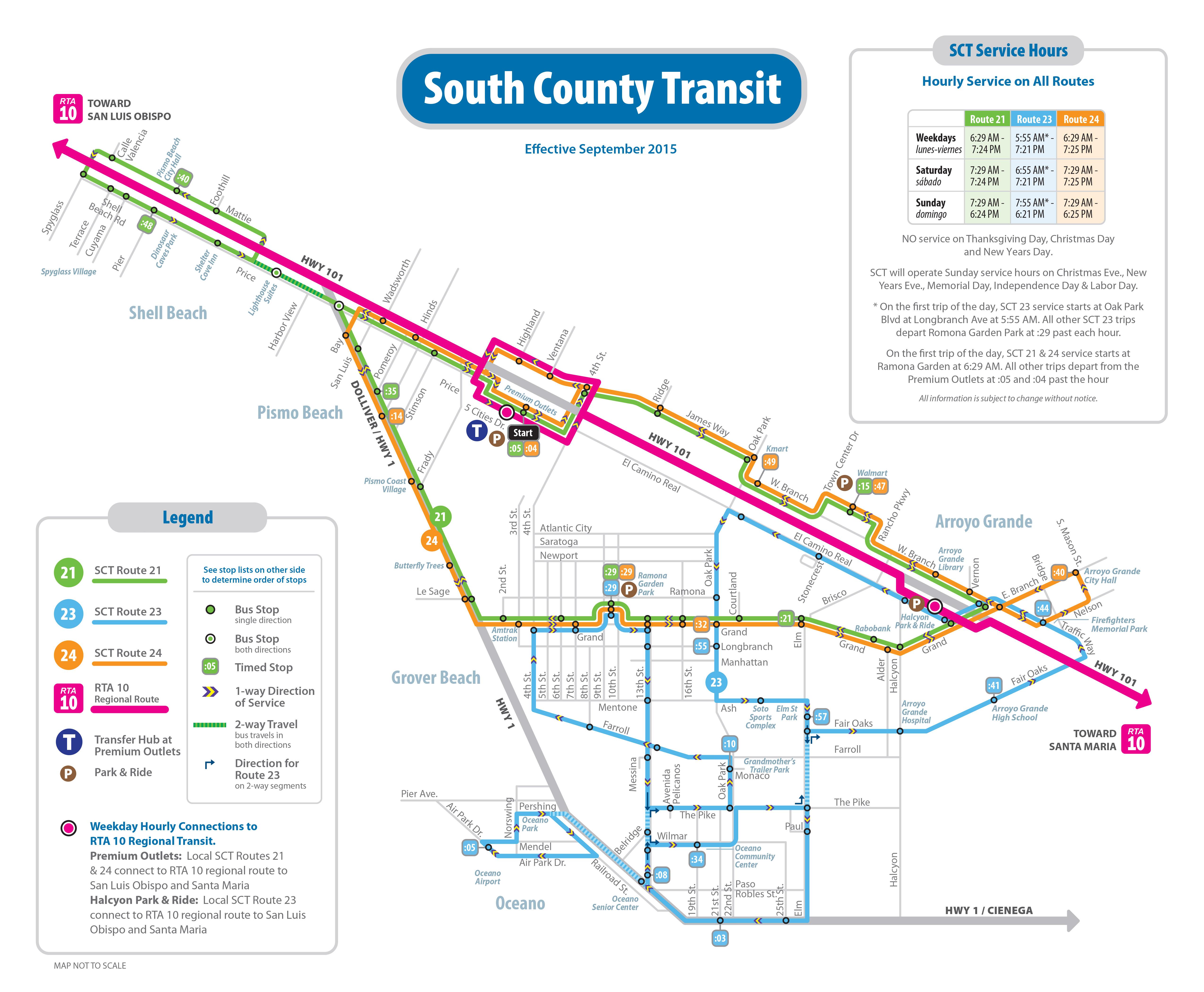 Route 24 Five Cities Loop Counterclockwise San Luis