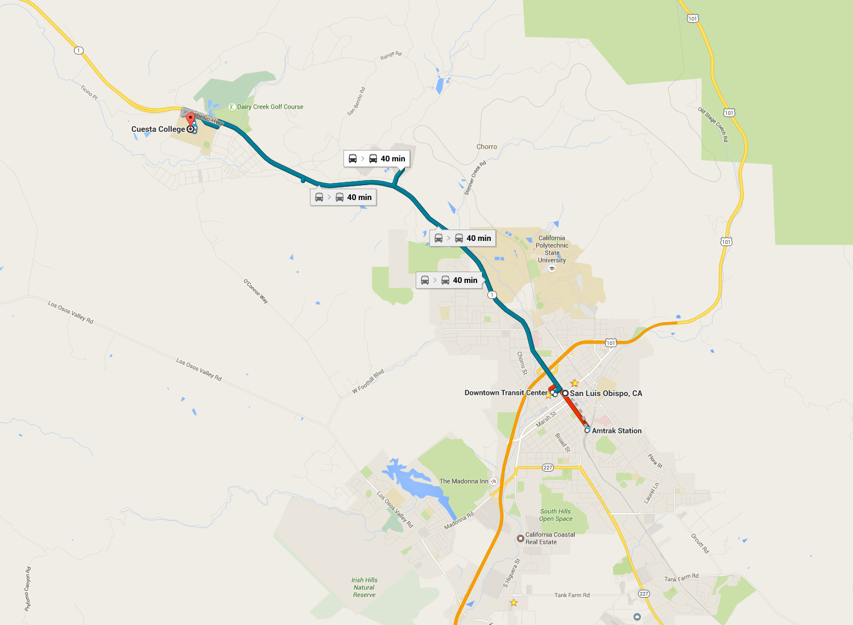 route 14 san luis obispo to cuesta college | san luis obispo
