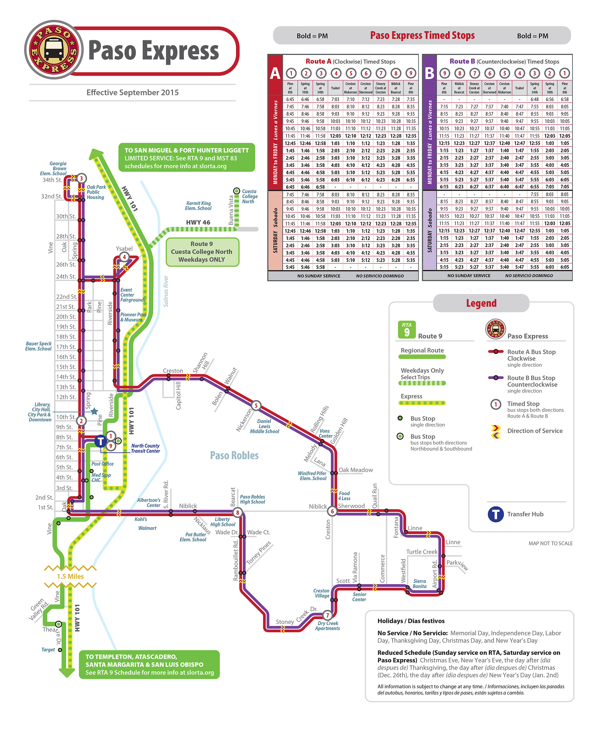 Paso Express – San Luis Obispo Regional Transit Authority on miami trolley system map, pittsburgh trolley map, trolley bar map, san diego zoo map, trolley route in dallas, trolley map san francisco, trolley trail map, charlotte light rail map, denver light rail map,