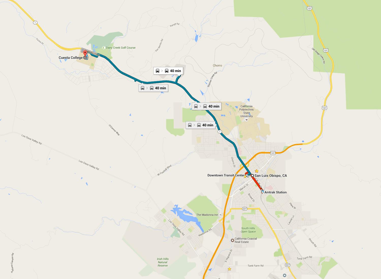 Route 14 San Luis Obispo to Cuesta College – San Luis Obispo
